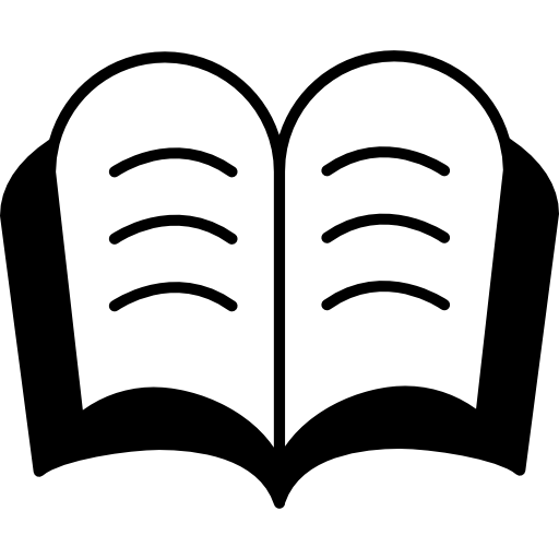 Book silhouette png. Open with free education