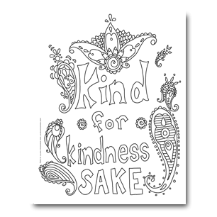 Bookmark drawing zen. Free coloring pages laura