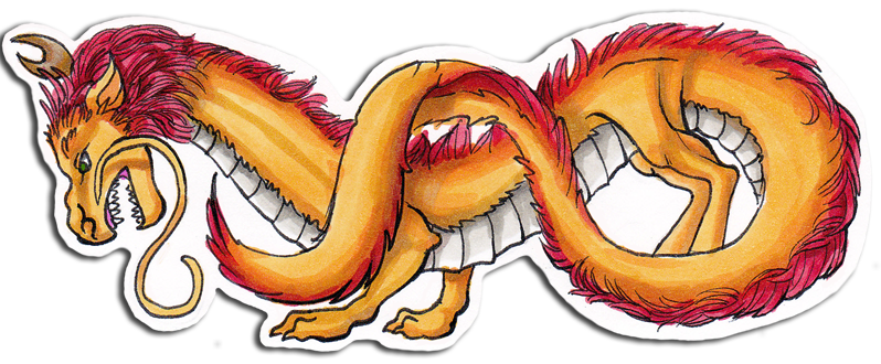 Bookmark drawing dragon. Chinese by zoehildebrand r