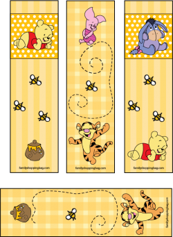 Bookmark drawing friend. Love these winnie the