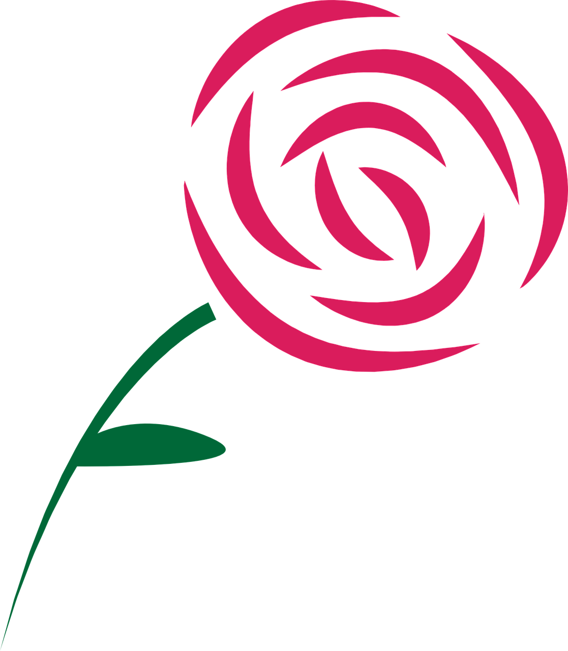 Bookmark drawing rose. How draw a simple