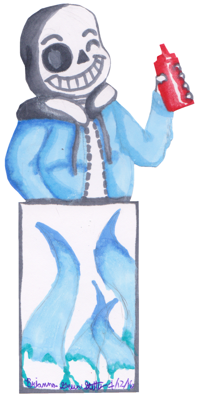Bookmark drawing sketch. Sans by skittylover on