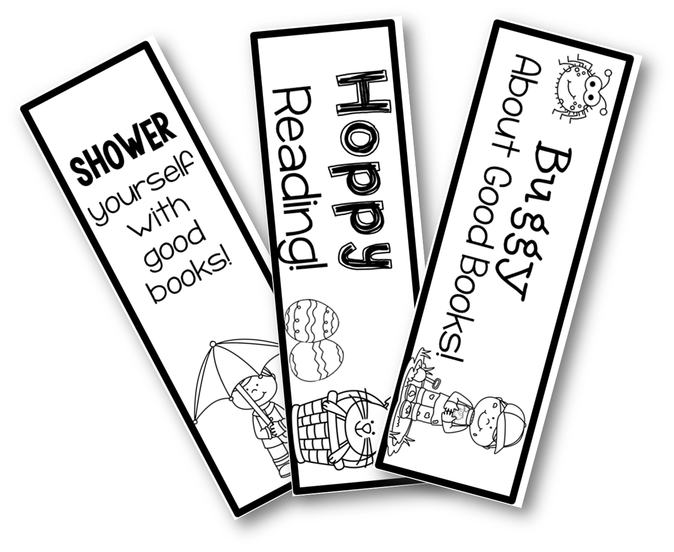 Bookmark drawing. Freebie bookmarks and a
