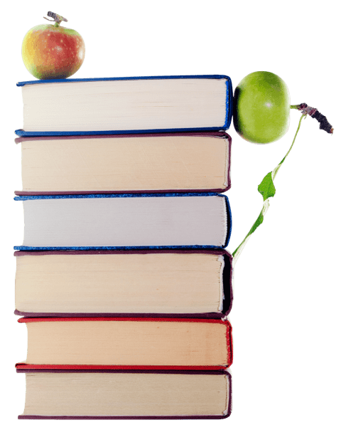 Books and apples png. Stack of apple free