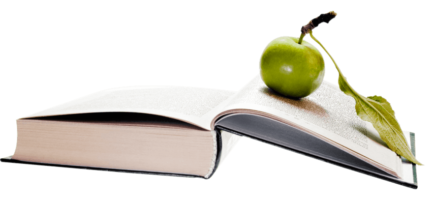 Books and apples png. Apple book transparent images