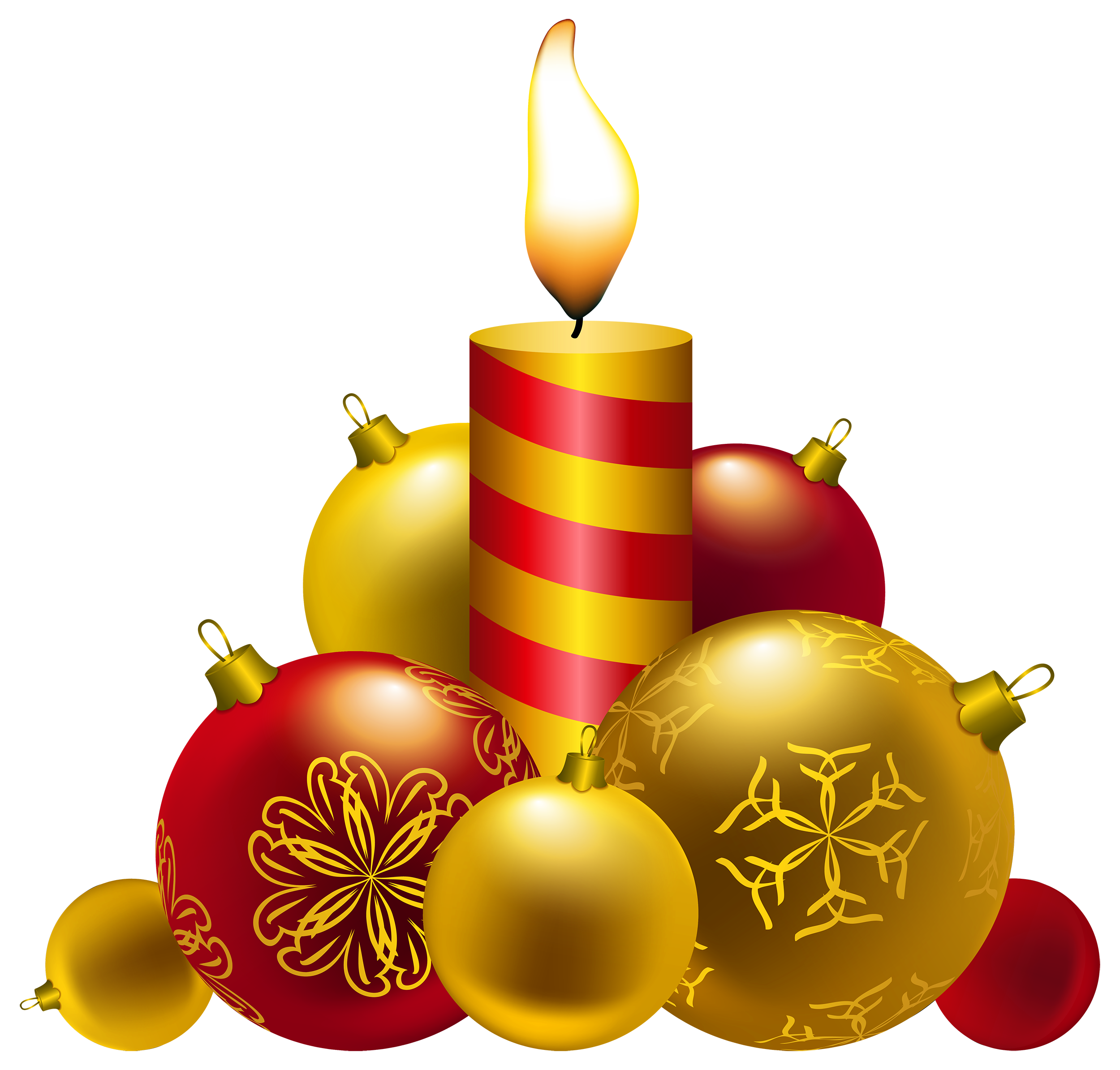 Christmas ornaments clear background images png candles. Clipart best web