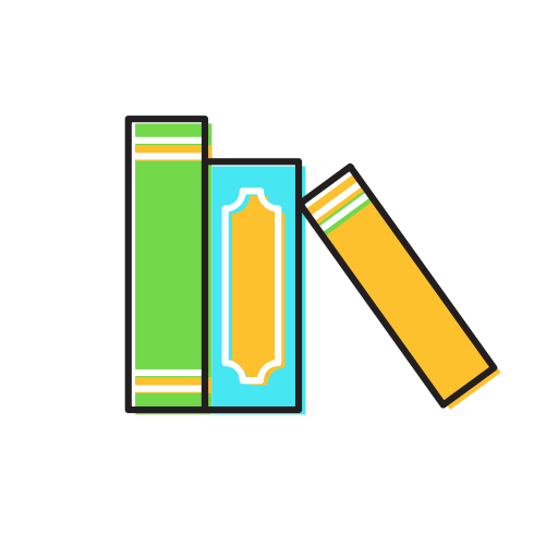 Books on shelf png. Book icon