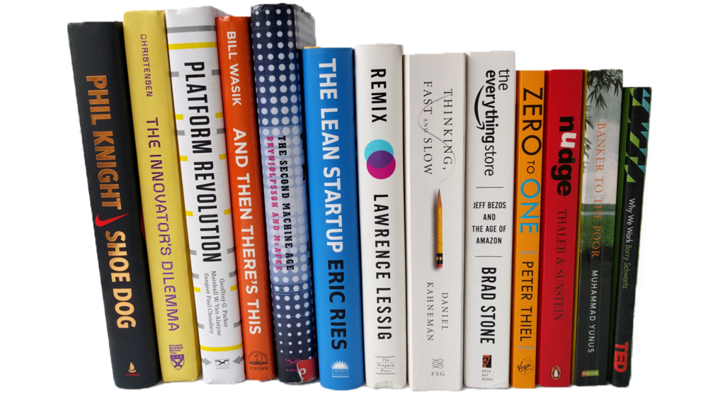 Books on shelf png. Tech business the open