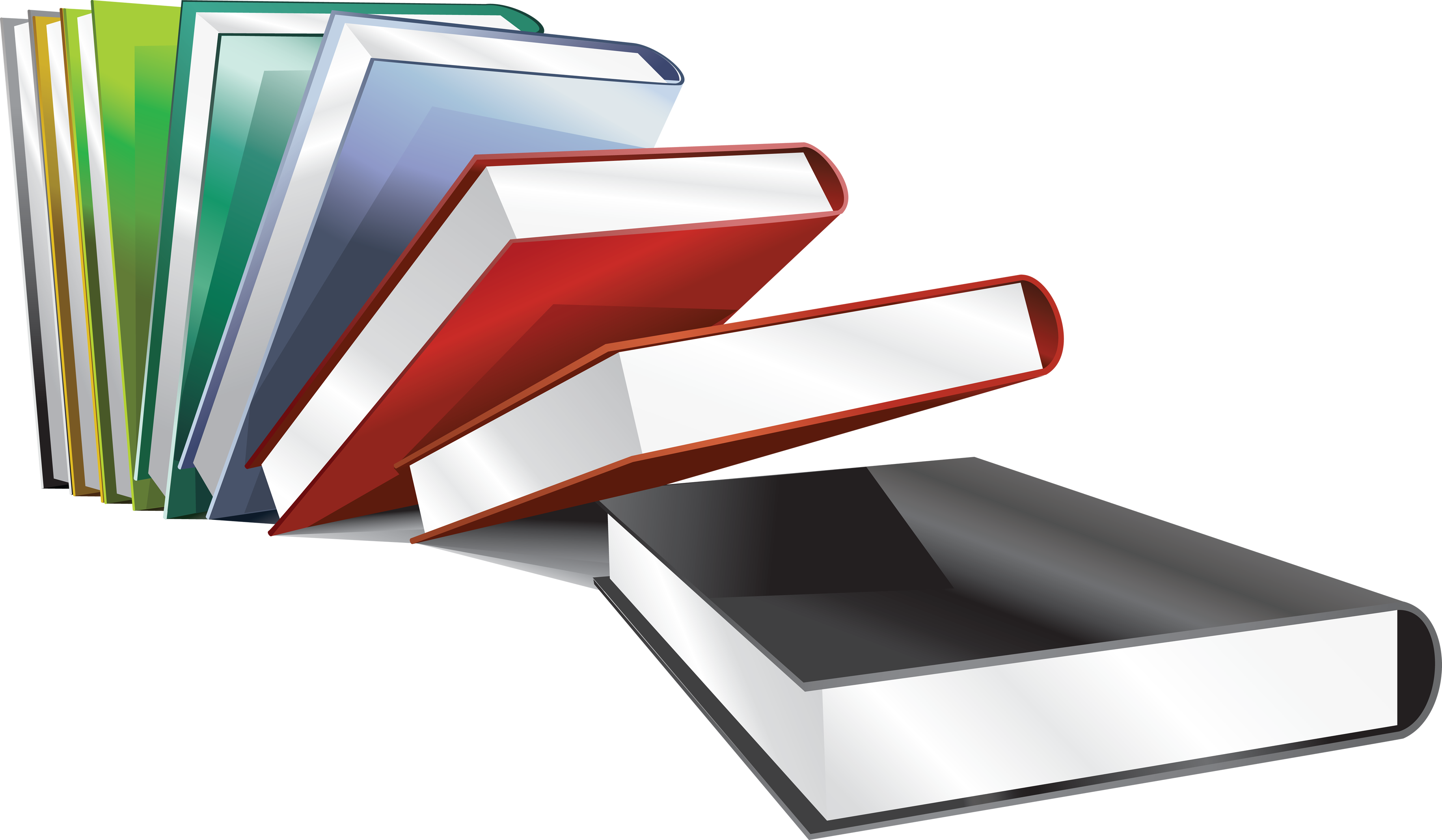 Books png. Image with transparency background