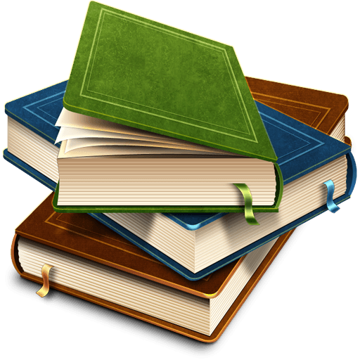 Book stack png. Of beautiful books transparent