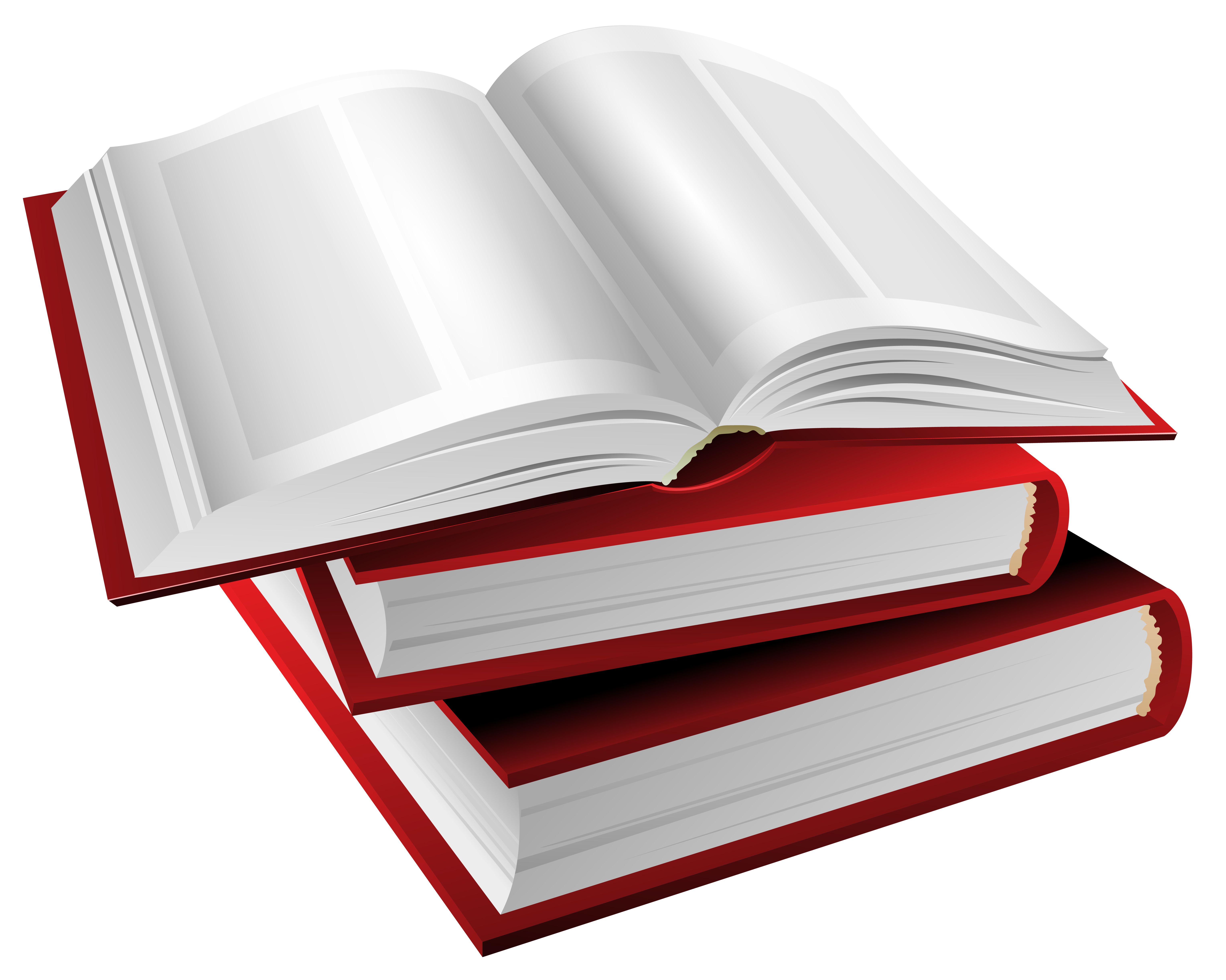 Books png transparent. Red clipart image gallery