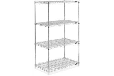 Bookshelf clip metro shelving. Used wire for sale