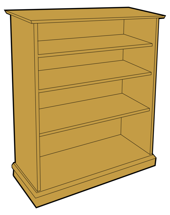 Bookshelf Clip Shelf Furniture Art Paper Bookcase Png Library