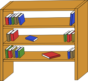 Bookshelf clip shelf. Furniture library shelves books