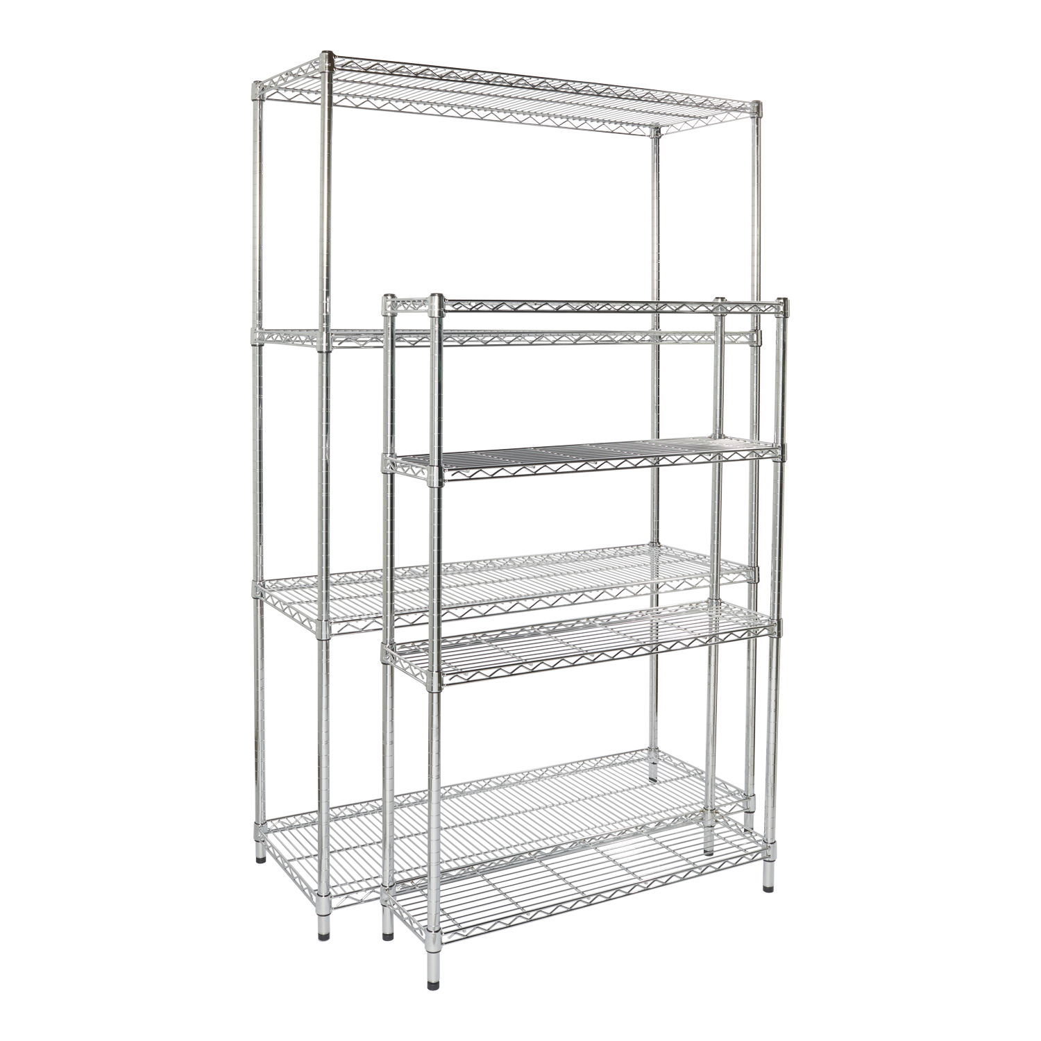 Bookshelf clip wire shelving. Industrial post steel storables