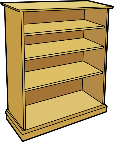 shelf vector book rack