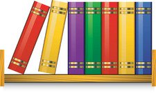 Bookshelf clipart. Free library and vector