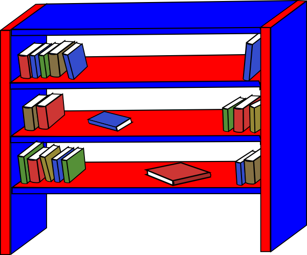 shelf vector bookshelf