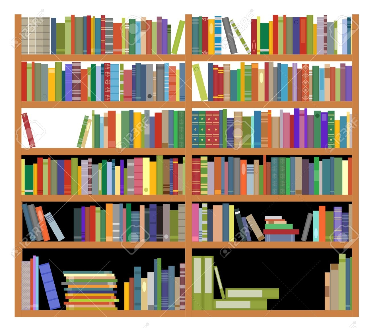 Bookshelf Clipart Libraray Png Library