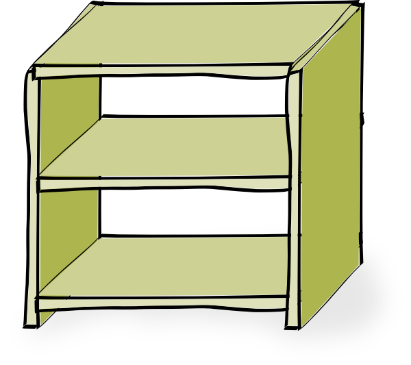 Bookshelf clipart shelving. Shelves clip art at