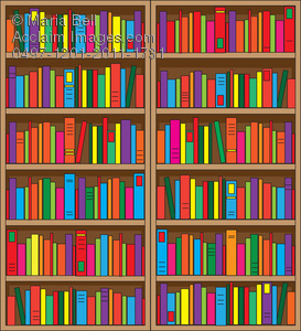 Bookshelf clipart shelving. Bookcase with lots of