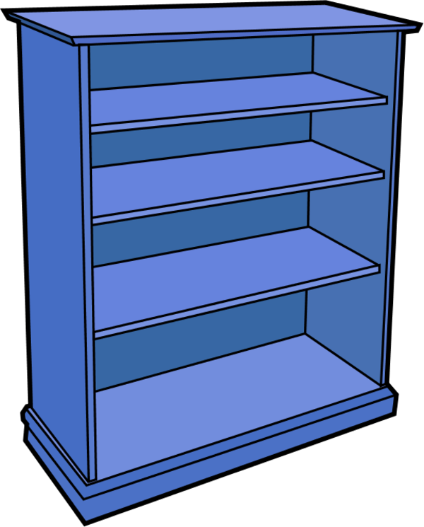 Shelf vector wood. Free bookcase cliparts download