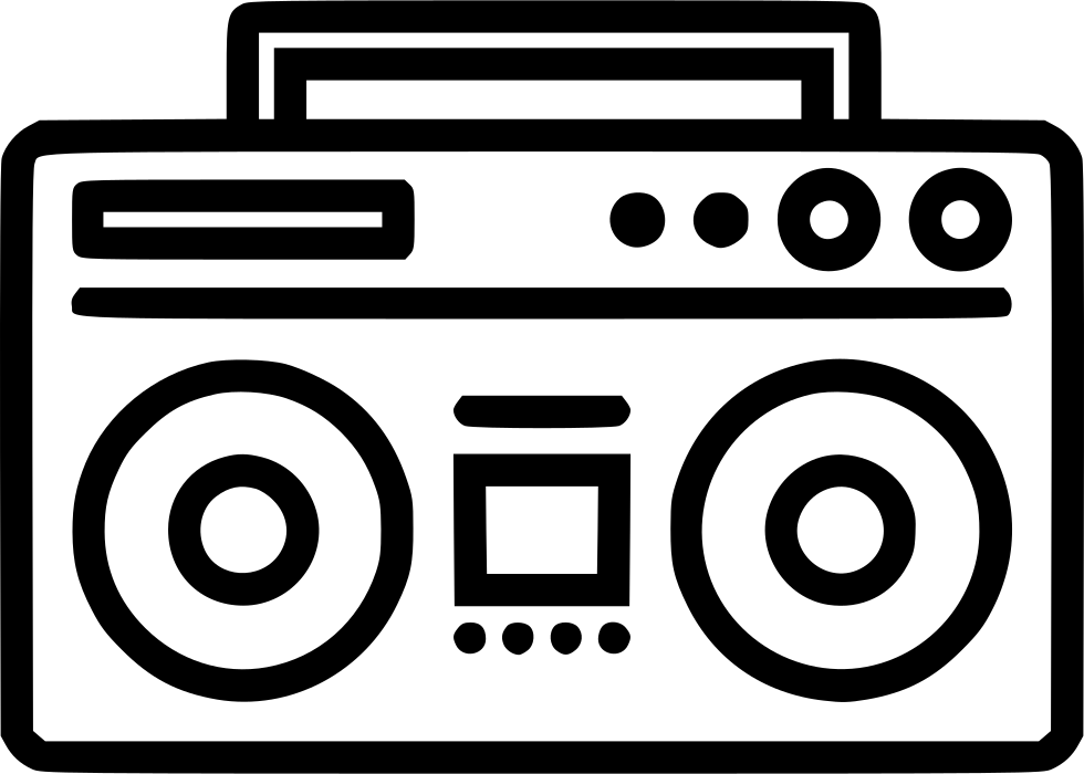 Boom box png. Boombox svg icon free