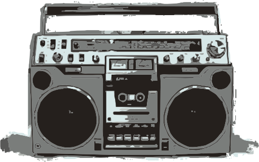 Boom box png. Old school boombox baby