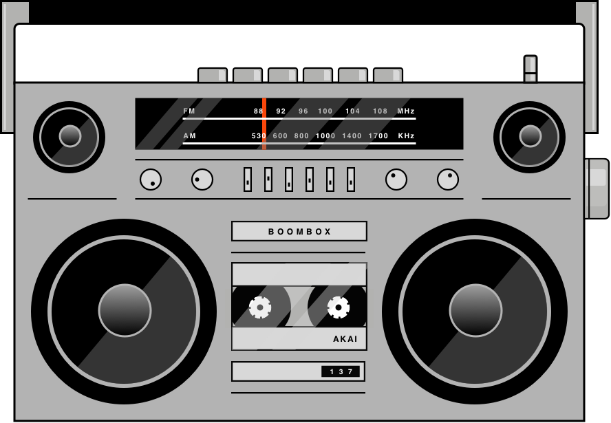 Boom box png. Dribbble boombox by guy