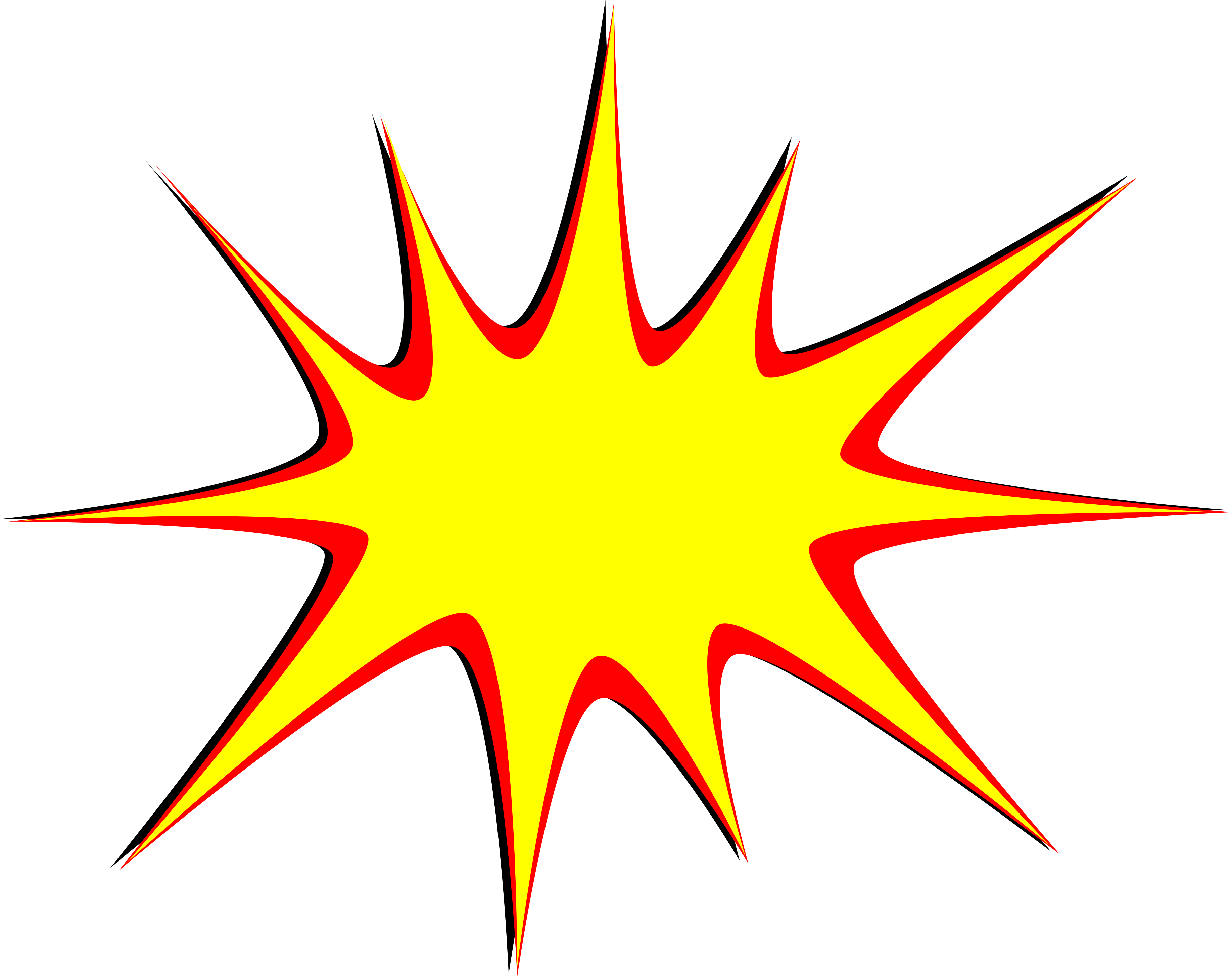 Boom clipart star explosion. Comic vector png