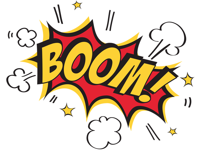 Boom transparent. Clipart pencil and in