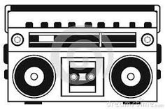 boombox clipart draw