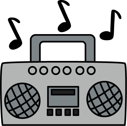 Boombox clipart misic. Music pencil and in