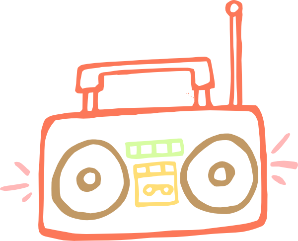 Boombox clipart music note. Clip art at clker
