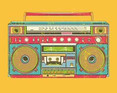 Boombox clipart old fashioned. Colorful for the love