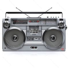 boombox clipart throwback