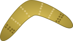 boomerang drawing svg