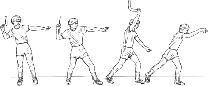 Boomerang drawing kid. How to throw a
