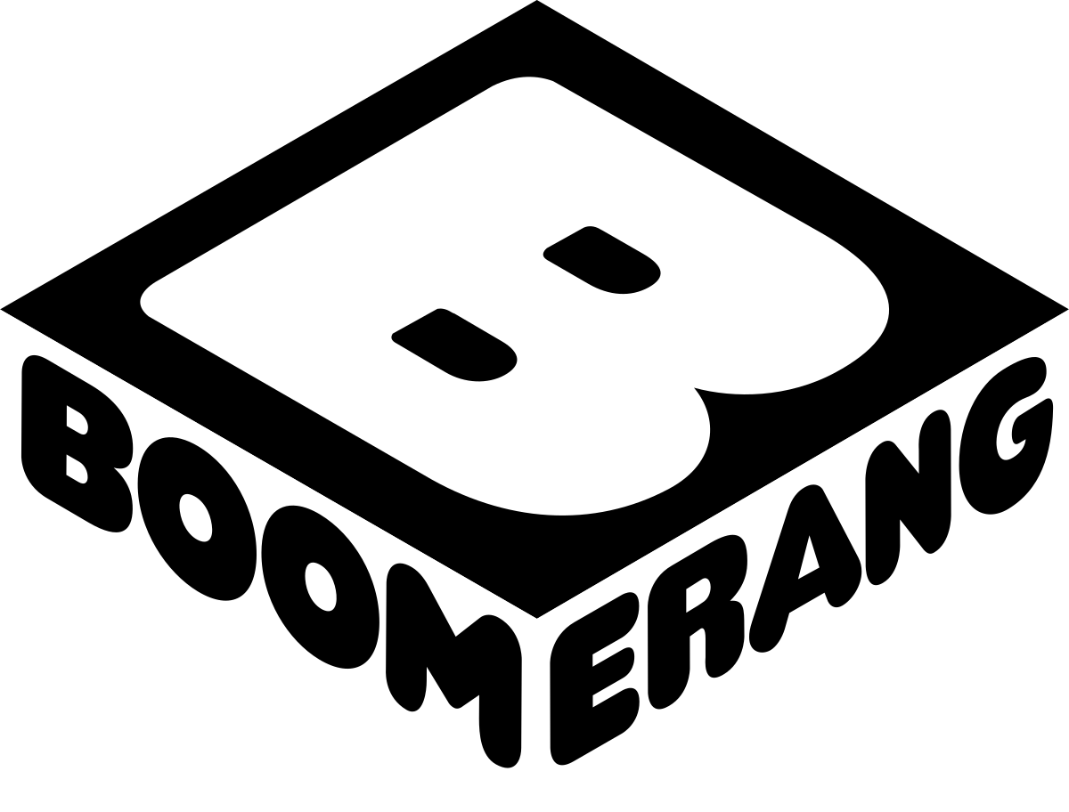 Boomerang drawing retro. Tv channel wikipedia