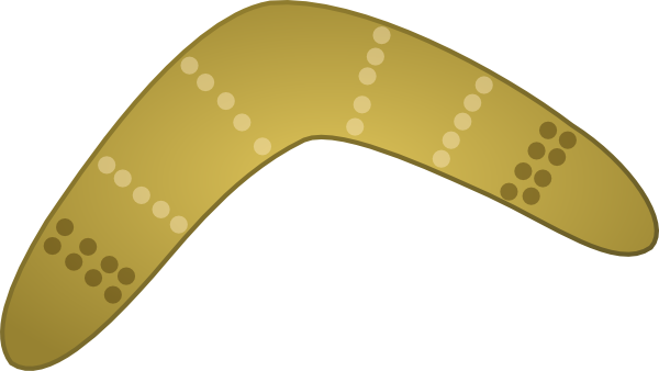 Boomerang drawing simple. Clip art at clker