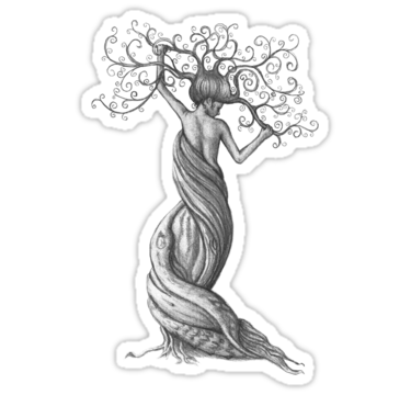 Strength drawing mother earth. Woman shaped tree google