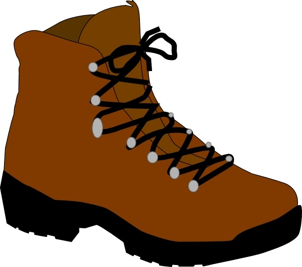 File hiking clip art. Boot clipart clip art