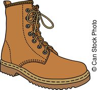 Leather clip art vector. Boot clipart vector transparent library
