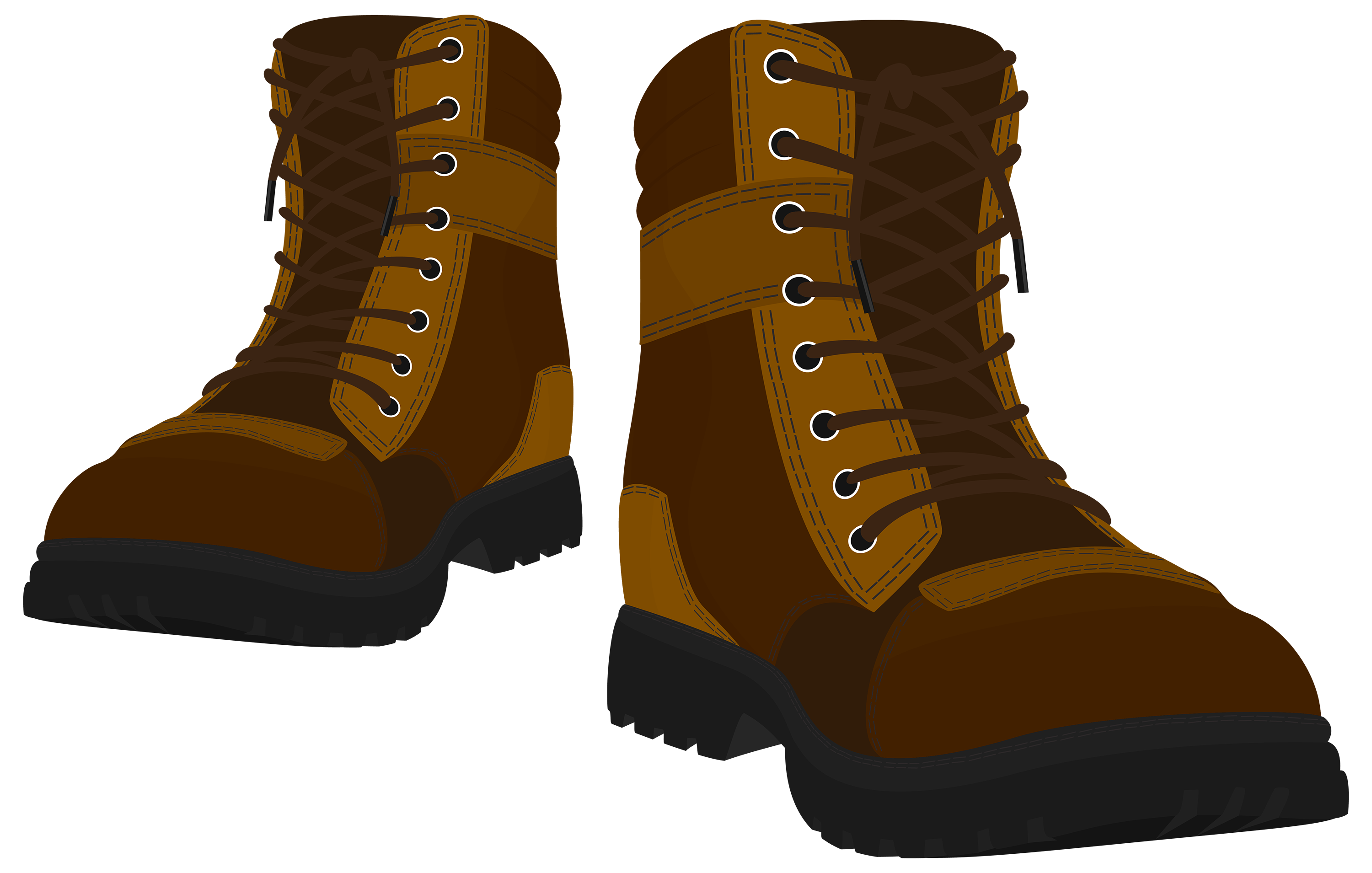 Brown male boots png. Boot clipart image free library
