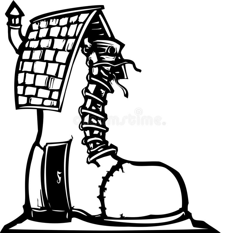 Boot clipart boot house. Fairytale shoe stock vector svg transparent library