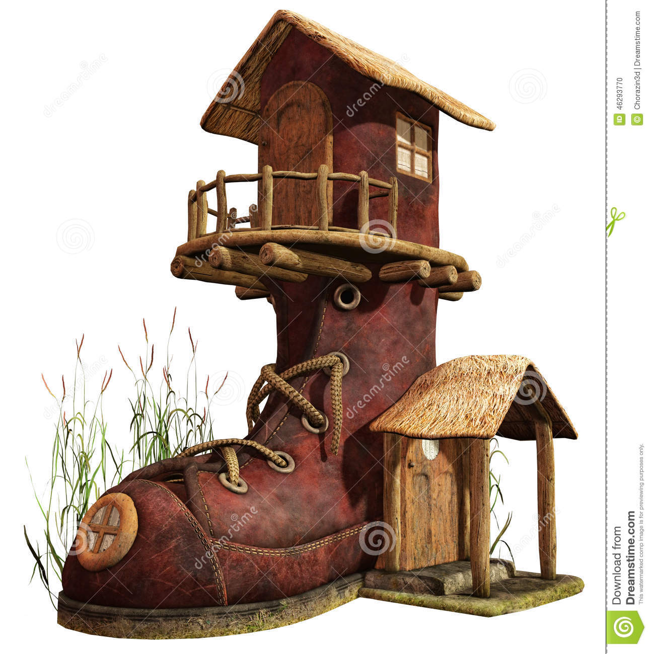 Fairy stock illustration of. Boot clipart boot house banner