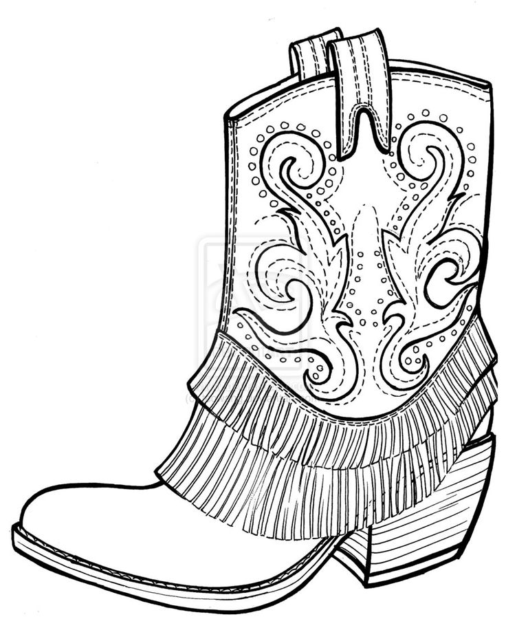 Boot Clipart Coloring Page Picture 254274 Boot Clipart
