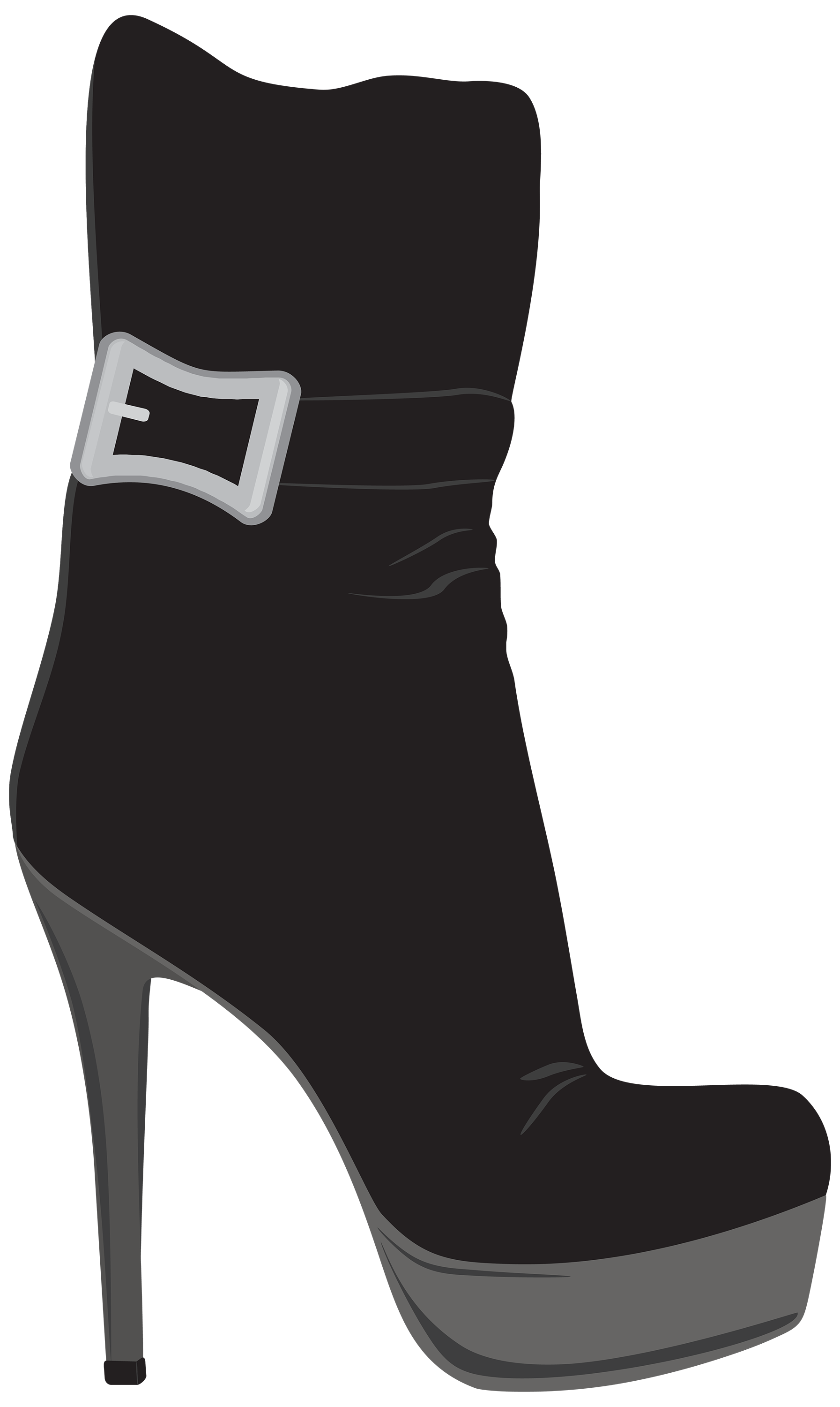 Boot clipart high boot. Black female boots png
