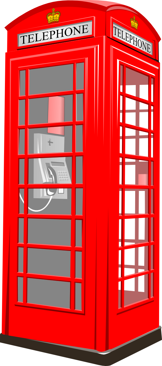 Phonebooth. Boot clipart black and