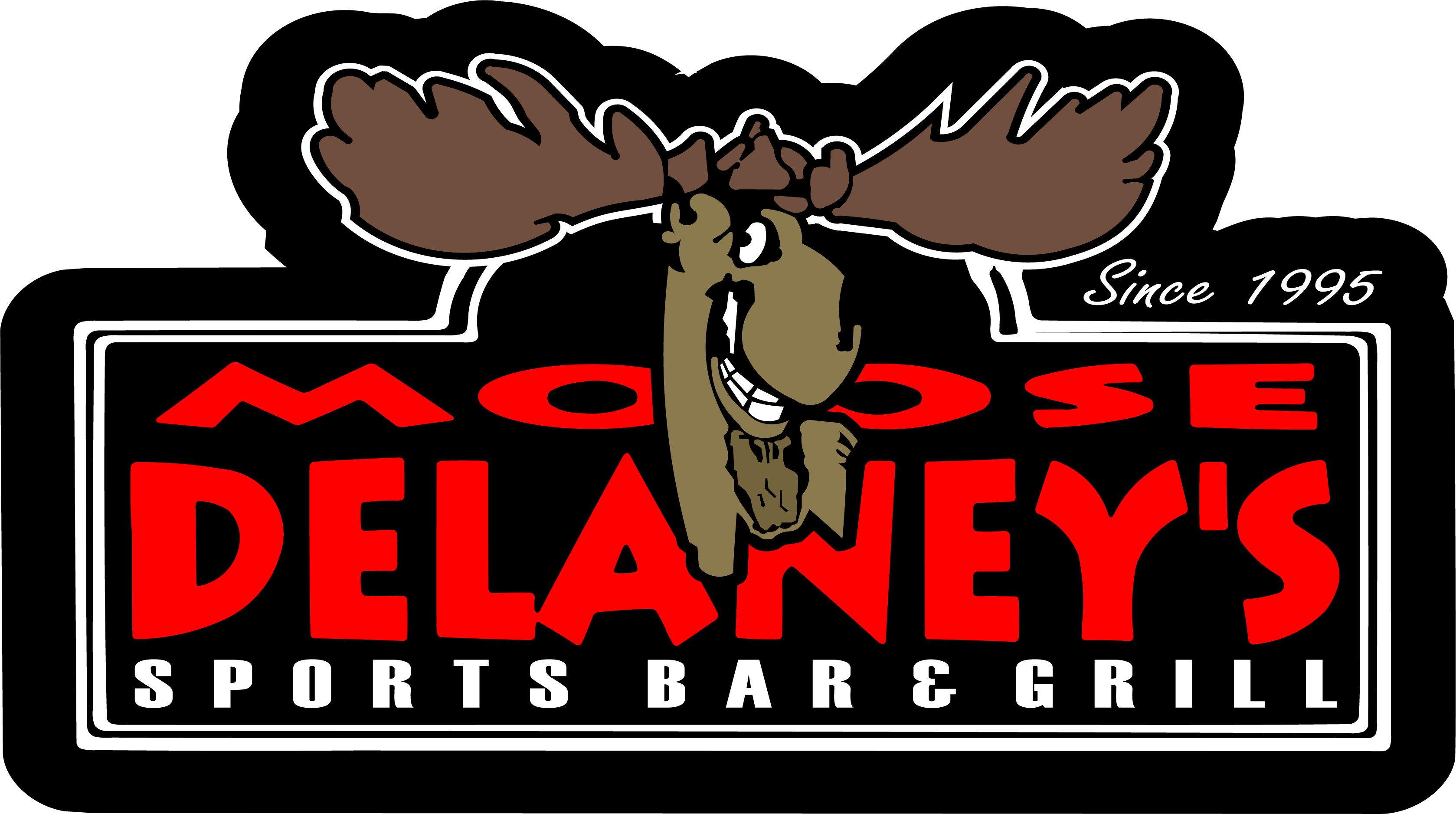 Booth clipart bar grill. Moose delaney s sports